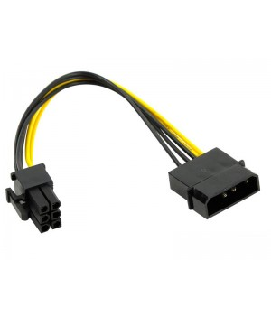 Переходник питания для PCI-Ex видеокарт Molex 4pin (M) - 6pin ORIENT