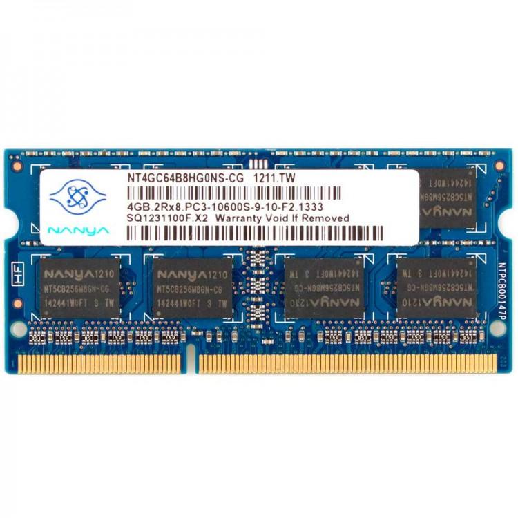 Модуль оперативной памяти SODIMM DDR3 (PC3), 4 ГБ, РС10600, 1333 MHz  для ноутбука