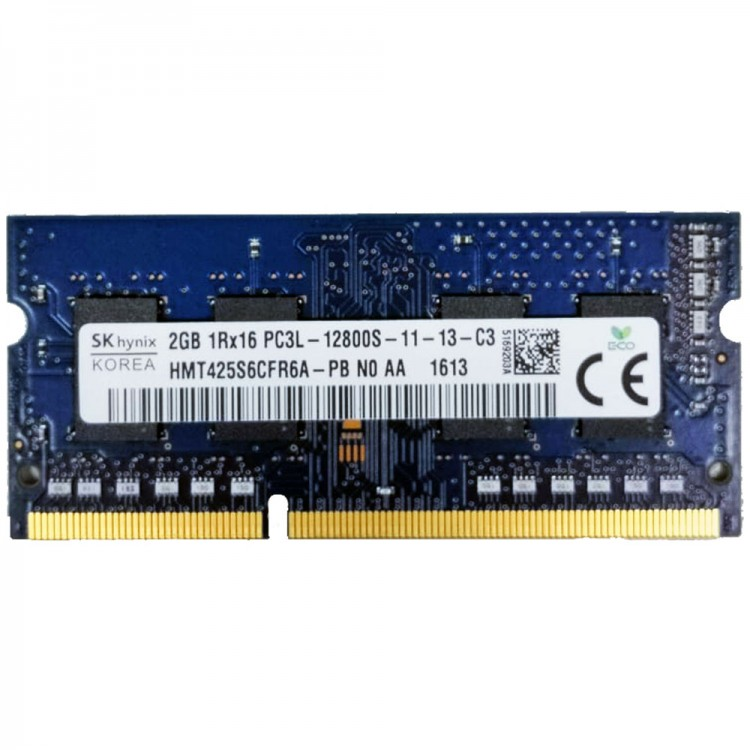 Модуль оперативной памяти SODIMM DDR3 (PC3L), 2 ГБ, РС12800, 1600 MHz  для ноутбука