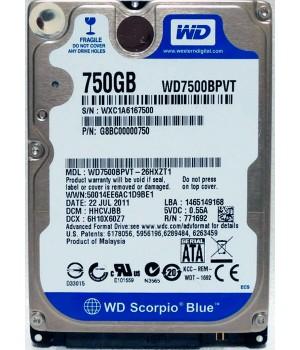 """Жёсткий диск 2.5"""" 750 ГБ 5400 rpm (в ассортименте)"""