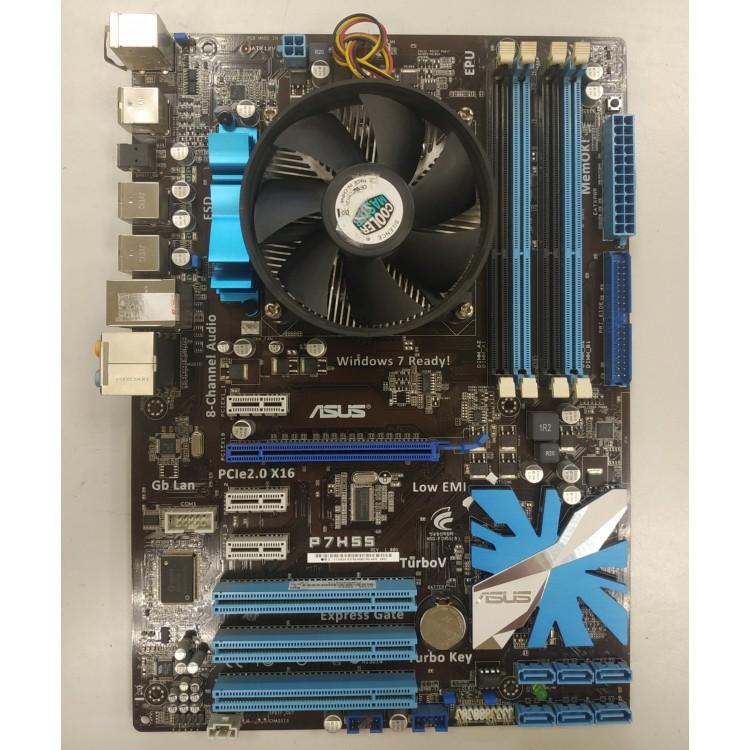 Комплект LGA 1156 (ASUS P7H55 и Intel Core i3 550 (3.20GHz))