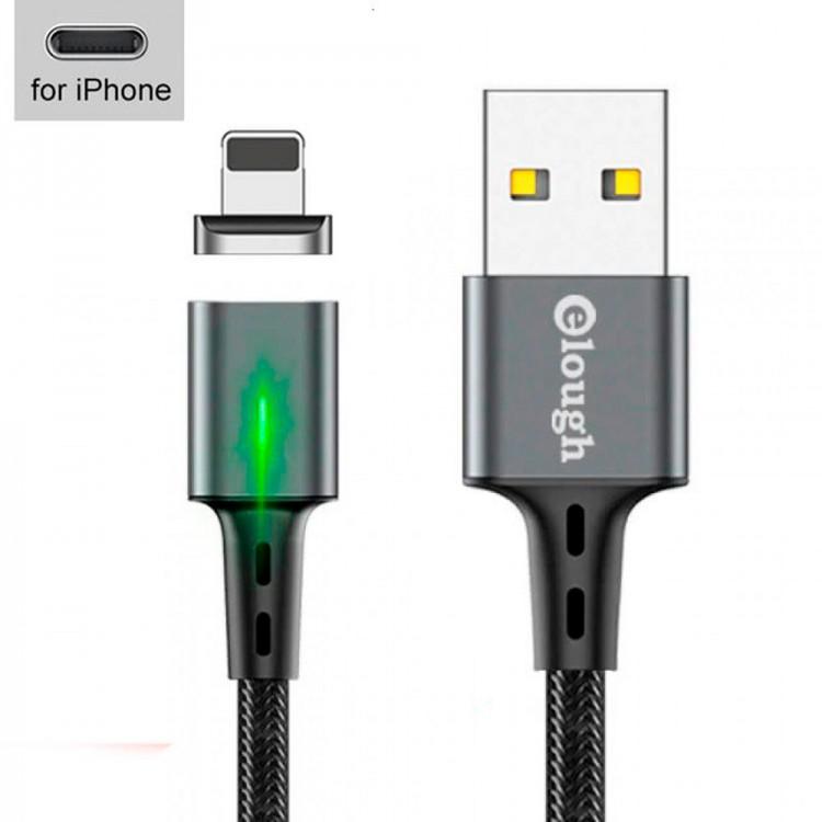 USB - кабель с магнитной зарядкой, для iPhone, 3A, 2м