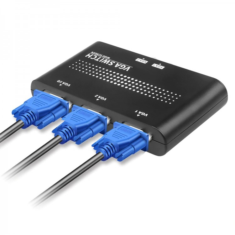 Переключатель VGA Switch,  2xVGA -> 1xSVGA, c 2 ПК на 1 монитор
