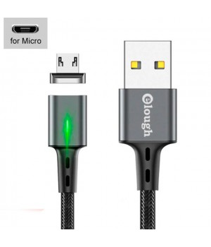 USB - кабель с магнитной зарядкой, MicroUSB, 3A, 1м