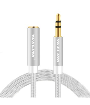 Voxlink позолоченный 3.5 мм аудио кабель-удлинитель 3.0 м Jack3.5 (F) - Jack3.5 (M)