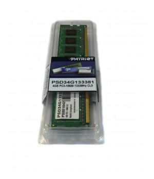Модуль памяти DIMM 4Gb DDR3 PC3-10600 1333MHz PATRIOT  (PSD34G133381)