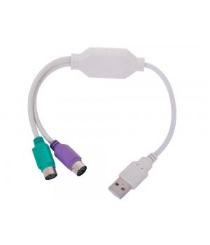 Кабель-адаптер USB AM - 2 x PS/2, блистер