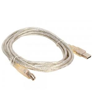 Кабель удлинительный Vcom USB 2.0 AM/AF 1.8m прозрачная изоляция